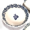 Tienshan Blue Sponge Fruits Grapes Cereal Bowls
