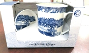 Spode Blue Italian Mug & Coaster Set